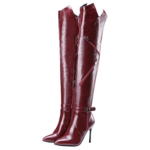 Red Boot Women's AIYOUMEI Classic Wine qEa6SI