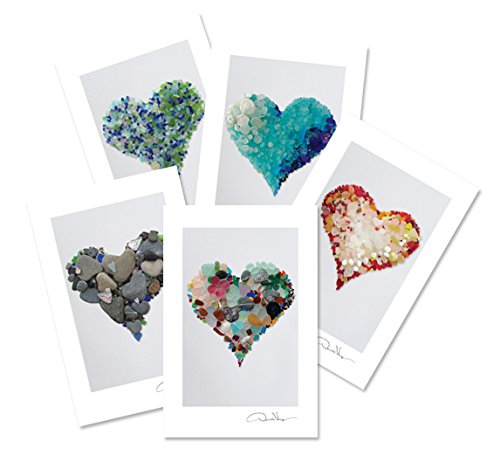 Easter Photo Postcard (Sea Glass Hearts Postcard Variety Pack. Number 1 in the Series. 4x6, 2 of Each. Best for Birthday Cards, Thank You Notes & Invitations. Unique Christmas & Valentines Day Gifts)