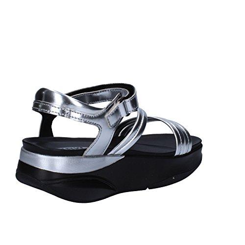 MBT Sandalen Damen 37 EU Silber glänzendem Leder