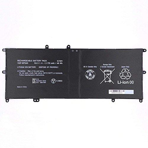 7XINbox 15V 48Wh 3170mAh VGP-BPS40 Replacement Battery for Sony Vaio Flip SVF 15A SVF15N17CXB SVF15NB1GL SVF15NB1GU SVF15NA1GL SVF15NA1GU SVF15N18PXB SVF15N26CXB SVF15N28PXB SVF15N23CGS (Vaio Flip)