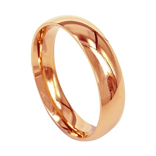 279bf123423a En venta EVERSTONE Hombres Boda Banda forma pulido de cúpula de anillo de  titanio aniversario anillo