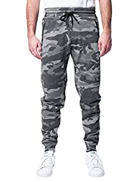 Brooklyn Athletics Mens Standard Men's Zipper Pocket Fleece Jogger Pants