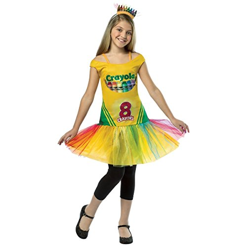 [Crayola Crayon Box Dress Costume - Medium] (Red Crayon Tank Dress Costume)