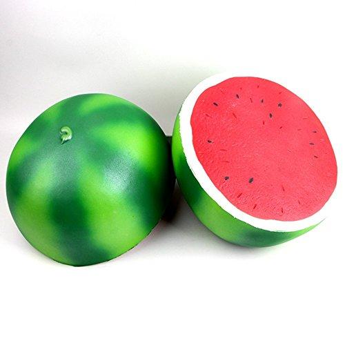 Vent Half (Fashionwu 25cm Super Large Squishy Half Watermelon Shape Slow Rising Toy Children/Adult Fruit Shape Vent Soft PU Squeeze Stress Relieve Toy)