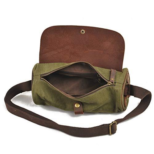 per Travel colore uomo Canvas Verde Handbags Work Messenger Lieyliso verde Business awq61nxwP