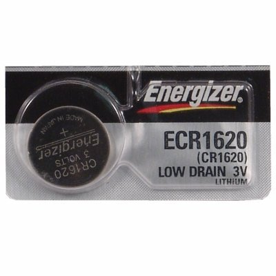 Energizer CR1620 Lithium Battery, Card of 5ORMD