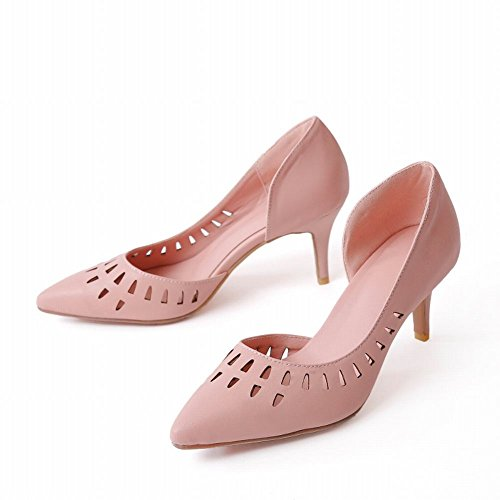 MissSaSa Damen high heel hollow out Pointed Toe Pumps Pink
