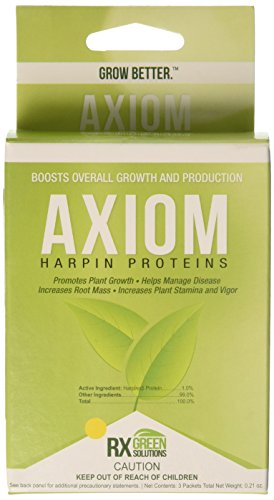 Rx Green Solutions RXAXM3X2G 3 Count Axiom Harpin Protein for Plant Growth, 2gm from Rx Green Solutions
