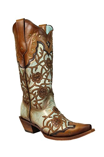 Corral Boots Women's C3176 Mint/Maple Boot