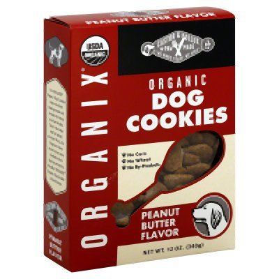 Organix Peanut Butter Dog Cookies, 12 Ounce -- 8 per case.