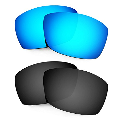 HKUCO Mens Replacement Lenses For Costa Caballito Sunglasses Blue/Black Polarized