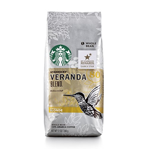 Starbucks Veranda Shade Light Blonde Roast Whole Bean Coffee, 12-Ounce Bag (Pack of 6)