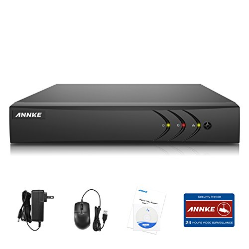 ANNKE 8CH Surveillance Digital Video Recorder Network DVR System For CCTV Security Camera, Smart search playback, NO HDD