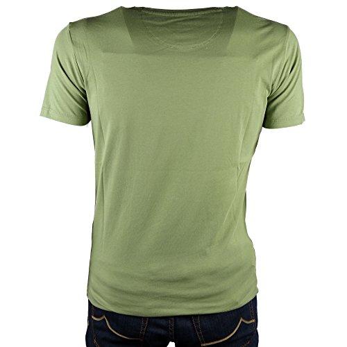 Tee Mod shirt T M Verde Logo Woolrich 7z6aqgnwEx