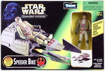 Star Wars POTF2 Power of the Force Expanded Universe SPEEDER BIKE with Exlcusive Pilot Action Figure ROTJ