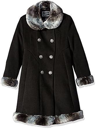 Amazon.com: Rothschild Big Girls' Faux Wool Skater Coat: Clothing