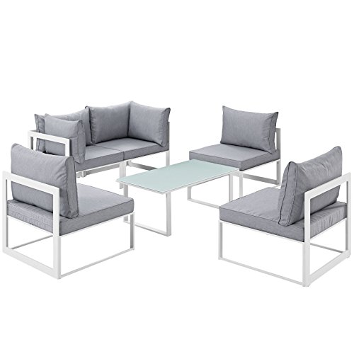 Modway Fortuna 6 Piece Aluminum Sectional product image