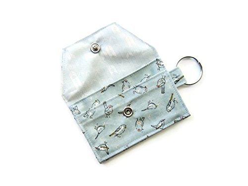 Amazon keychain wallet id credit business card holder keychain wallet id credit business card holder morning birds in light aqua colourmoves