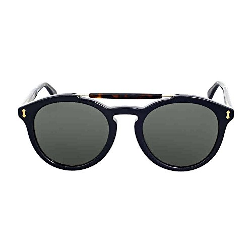 Gucci Round Dark Havana Crystal - Havana Sunglasses Dark Gucci