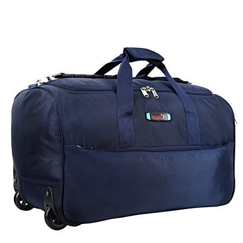 TORRENTO Nylon 40 L 22 inch Blue Waterproof Expandable Lightweight Travel Duffel/Trolley/Cabin Luggage Bag