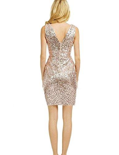 e2b45dce3b4 LanierWedding Gold Sequins Bridesmaid Dresses Plus Size Prom Dresses 601  Champagne Size 18 Plus