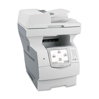 Lexmark X646E Laser Multifunction Printer - Monochrome - Plain Paper Print - Desktop - Copier/Fax/Printer/Scanner - 50 ppm Mono Print - 1200 x 1200 dpi Print - 50 cpm Mono Copy - 600 dpi Optical Scan - 600 sheets Input - Fast Ethernet - USB