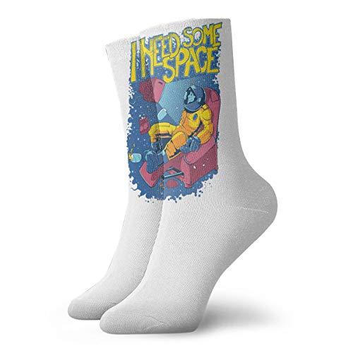 YUANSHAN Socks Astronaut I Need Some Space Women & Men Socks Soccer Sock Sport Tube Stockings Length 11.8Inch]()