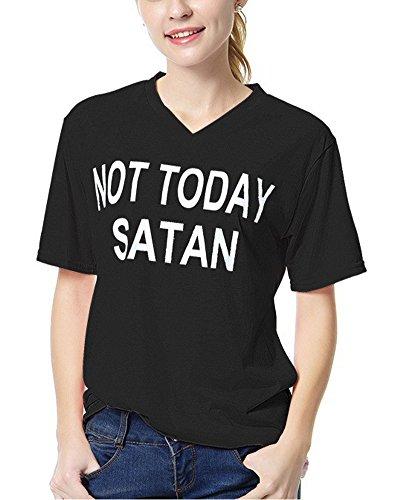 b56b8340a17a17 Minetom Damen Sommer Kurzarm Casual T-Shirt V-Ausschnitt Oberteil Tops Bluse  Shirt Schwarz