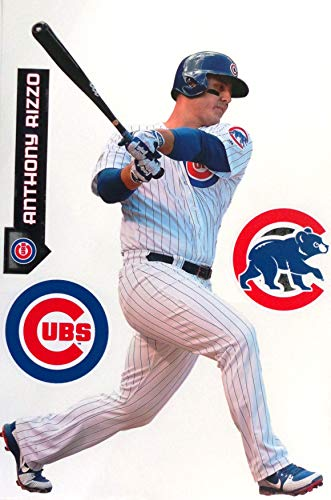 FATHEAD Anthony Rizzo Chicago Cubs Logo Set Official MLB Vinyl Wall Graphics 17
