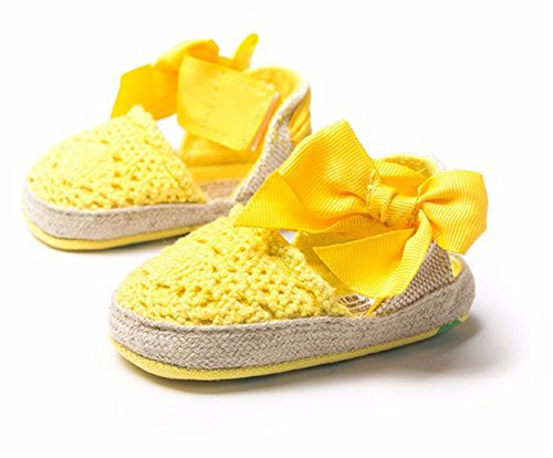New Fashion Sweet Newborn Baby Girls Spring Summer Style Prewalker Princess Shoes Knitting Bow Soft Soled Shoes 0-1 Year (3, (Hipster Disney Princess Halloween)
