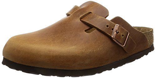 Birkenstock Boston Clogs in Antique Brown Leather, Unisex, 40 N EU