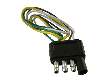 Amazon.com: 4 Pin (Pole) Flat Trailer Wiring Harness Kit ... on