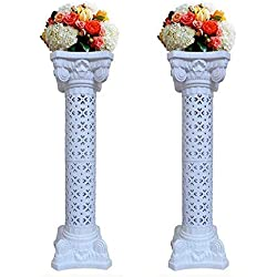 2Pcs Elegant Wedding Roman Column Set Pillars Decoration Party Flower Pot Columns Decor Adjustable Height