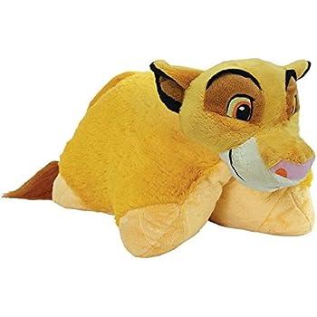 "Pillow Pets Authentic Disney 18"" Simba, Folding Plush Pillow- Large"