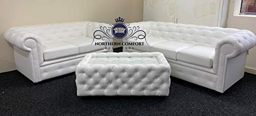 Chesterfield Sofa in Whit