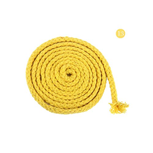 - 20Meter 8mm Eco Friendly 100% Cotton Cord High Tenacity Twisted Cotton Rope DIY Craft Woven String Home Textile Craft Home Decor,Nickel-Free White