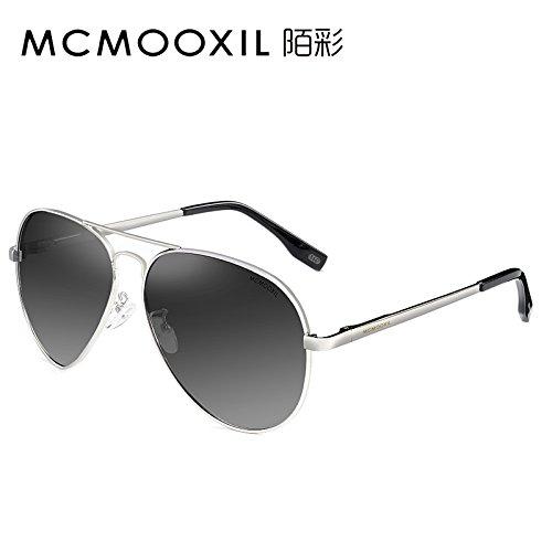 Gray polarizadas enfrentar conducción Silver gafas una KOMNY especial larga Rifle del los de sol de cara de sol Frame Gafas podría pueblo Gradually HD conductores Gafas gafas gFTxTqwv0