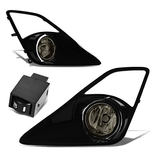 For Scion FRS Pair of Bumper Driving Fog Lights + Bezel + Wiring Kit + Switch (Smoked Lens)