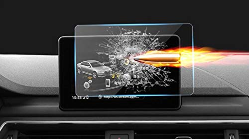 Alina-Shops - For Audi A4 B9 GPS Navigation Tempered Glass Screen Protector Cover Protective Film 1PCS Car Accessories