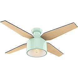 Hunter 59260 Cranbrook Low Profile Indoor Mint Green 52in