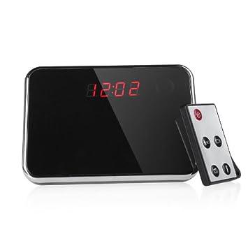 KKmoon Espejo Reloj digital de la cámara oculta de detección de movimiento Mini DV DVR video de la seguridad: Amazon.es: Bricolaje y herramientas