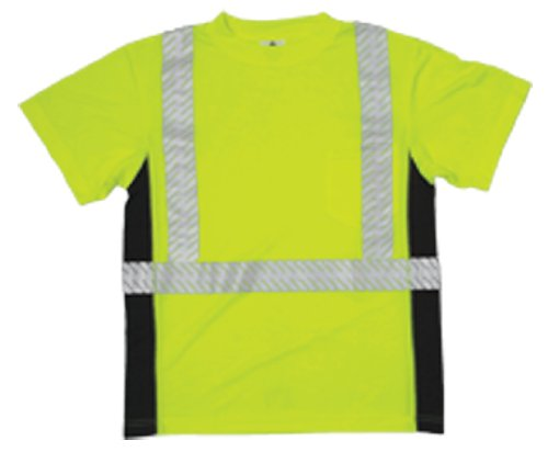 [ML Kishigo 9114 Polyester Black Series Class 2 T-Shirt, 3X-Large, Lime] (Ml Series)
