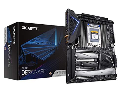 GIGABYTE TRX40 DESIGNARE (sTRX AMD TRX40/Direct 16+3 Phase VRM/Fins-Array Heatsink/Gen 4 AIC with 4 Extra M.2/ XL-ATX/AMD Motherboard)