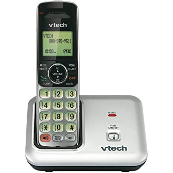 VTech CS6419 DECT 6.0 Expandable Cordless Phone with Caller ID/Call Waiting, Silver with 1 Handset