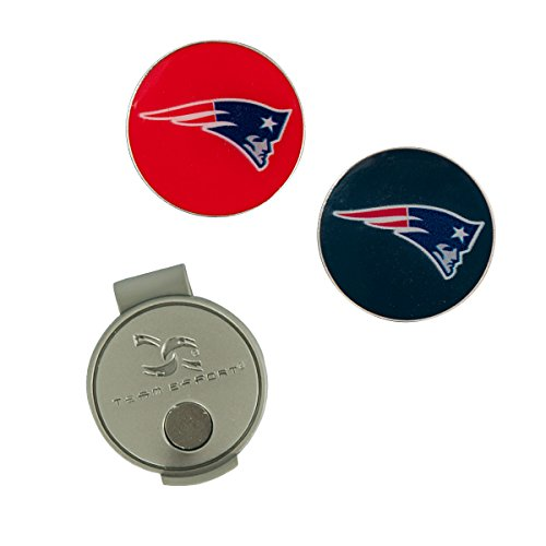 (Team Effort NFL New England Patriots Hat Clip & 2 Ball Markers)