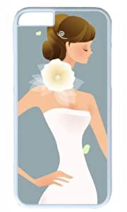Bride Lady Thanksgiving Halloween Masterpiece Limited Design PC White Case for iphone 6 by Cases & Mousepads
