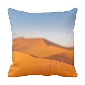 lettert 2012rústico fundas de almohada de arena del desierto Monograma Funda de almohada Funda de almohada cubierta