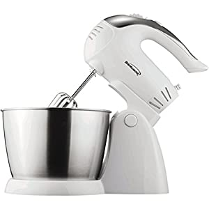 Brentwood SM-1152 5-Speed + Turbo Stand Mixer, White