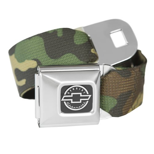 Belt Officially Licensed - Camouflage Chevrolet Seatbelt Buckle Fashion Belt - Officially Licensed