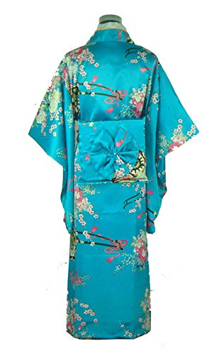 Bigood Robe de Nuit Chambre Femme Kimono Japonais Déguisement Long